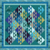 Quilt Kit Ocean Waves, Beautiful Colours of the Ocean/Queen