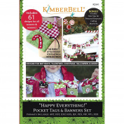Kimberbell Happy Everything Pocket Tags & Banners Machine Embroidery CD KD541
