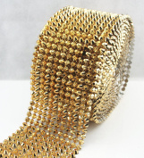 AEAOA 1 Yard Gold Sew Stitch On Flat Head Spike Stud Cone Flatback punk rock trim mesh bead craft