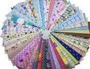 Misscrafts 50 PCS 20cm x 20cm Cotton Fabric Squares Precut Quilting Charm Pack
