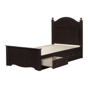 South Shore Savannah Twin Platform Bed in Chocolate