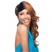 Fashion Celebrity Hairstyle Synthetic Wig Mix Brown and Black Long Wig with Free Wig Cap and Comb