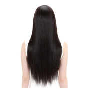 60cm Premium Synthetic Long Hair Wigs for Women with Free Wig Cap and Wig Comb (Natrual Black) Look as Real Hair