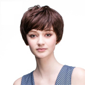 Fashion Short Wigs Wavy Curly Synthetic Rihanna's Hairstyle Wig Breathable Rose Net with Adjustable Straps Natural Looking with 1 Free Wig Cap and a Wig Comb Cosplay or Daily Wear