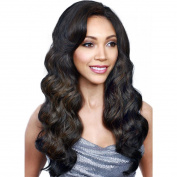 Elegant Body Wave Synthetic Wig for Women Brown Long Hair Wig with Free Wig Cap and Comb