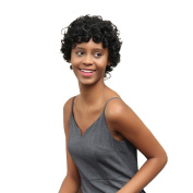 FANOUD Women Short Black Brown FrontCurly Hairstyle Synthetic Hair Wigs For Black Women