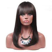 Aoert Straight Hair Wig with Bangs Full Long Heat Resistant Synthetic Wigs for Women Daily Use Cosplay Wig Natural Black Wig 60cm