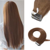100% Remy Tape in Human Hair Extensions Grade 6A 41cm - 60cm Double Side Tape Seamless Skin Weft Natural Hair Extensions Long Straight Silky