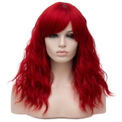Amback Ombre Long Body Wave Wig Synthetic Cosplay Wigs For Women