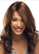 2017 Trendy European Long Curly Hair Weave Fashion Brown Hair Wig