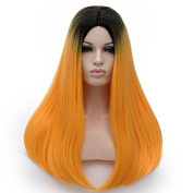 Amback Fashion Women's Long Straight Wig with Free Wig Cap 65CM