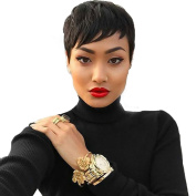 Short Black Pixie Wigs For Black Women Natural Female Wig Synthetic Cosply Wig For Party