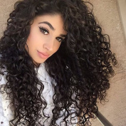 Natural Black Afro Curly wave Clip in Hair Extensions Full Head 100% Brazilian Human Hair For African American Black Women Lady Girl Top Quality 7 Pieces/Set