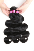 ISEE Hair Peruvian Hair 3 Bundles 10 12 36cm Peruvian Body Wave 100% Unprocessed Peruvian Human Hair Weave Extensions Natural Black Colour Can be Dyed