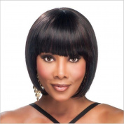 2017 Trendy European Short Bobo Straight Hair Wig for Black Women with Neat Bangs