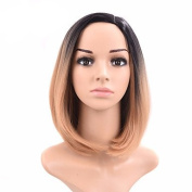 2017 Trendy Natural Short Straight Blonde Colour Popular Synthetic Wig For Woman