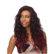 2017 Trendy Hot Corn Hairstyle Women's Fluffy Brown Gradient Wine Red Full Wig