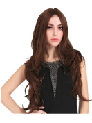 2017 Trendy Long Water Wave Centre Hairline Fashion Women Full Wig