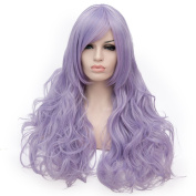 Lilac Long 80cm Curly Heat Resistant Lolita Fashion Harajuku Cosplay Wig