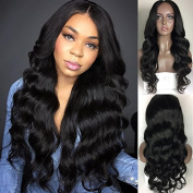 RIJIA Body Wave Full Lace Human Hair Wigs For Black Women 130% Density Pre Plucked Lace Front Wigs With Baby Hair Natural Balck
