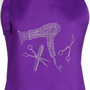 Purple Hair Stylist Salon Apron with Rhinestone Design, (Purple Tools) by Plum Hill