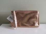 Nordstrom Pebble-Grain Cosmetic Bag, Rose Gold