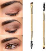 sumanee Pro Makeup Tools Bamboo Handle Double Eyebrow Brush + Eyebrow Comb Brushes New