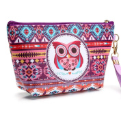 Lavany Portable Owl Cosmetic Case Travel Makeup Clutch Bag Pouch Zip Toiletry Organiser