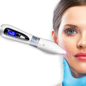 Dot Mole Removal Pen,Spot Tattoo Speckle Nevus Pigmentation Skin Tag Nevus Removing LCD Display Beauty Device