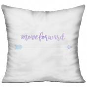 Move Forward Square Stuffed 18 X 18 Accent Pillow