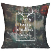 A Very Merry Christmas To You Square Stuffed 18 X 18 Accent Pillow