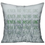 HEAVEN AND NATURE SING Square Stuffed 18 X 18 Accent Pillow