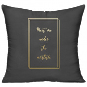 Meet Me Under The Misltoe Square Stuffed 18 X 18 Accent Pillow