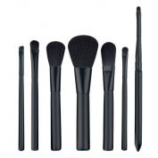 Mezerdoo 7Pcs Black Makeup Brushes Professional Set Cosmetics Eyeliner Eyeshadow Lip Make Up Tools Beauty Pencil Brush Kits