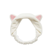 Birdfly Lovely Cat Ears Hair Band Elastic Stretch Headbands Beauty Tool for Face Washing Cleaning Masking Makeup Workout Running Shower Bath