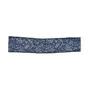 Small Flowers Printed Denim Headwrap for Girls and Teens