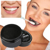 Dressin Teeth Whitening Powder Organic Activated Natural Charcoal Bamboo Toothpaste + 1PC Tooth Brush