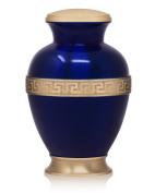Greek Brass Cremation Urn for Human Ashes - Affordable Funeral Urn Adult Urn for Ashes Handcrafted Urn