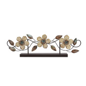 Buxton Imprinted Leaves Flower Trio Table Top Decor