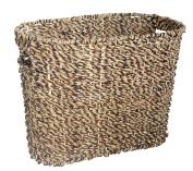 Seagrass Woven Magazine Rack - 38cm Wide x 30cm High - Storage Basket