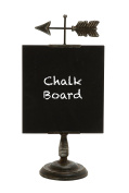 Deco 79 Exquisitely Designed Metal Wood Table Chalkboard