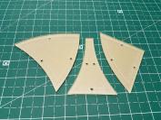 Winding Ways Acrylic Quilting Template 15cm Block - 3 Piece Set