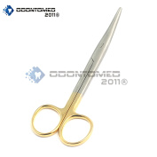 OdontoMed2011 TUNGSTEN CARBIDE MAYO DISSECTING CURVED SCISSORS 14cm ODM