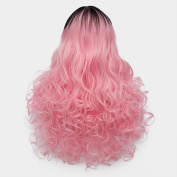 Long 60cm Curly Ombre Colour Heat Resistant Lolita Fashion Harajuku Cosplay Wig