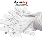 Zipperstop Wholesale YKK - Long Pull YKK Nylon Coil #4.5 Handbag Zippers with extra Long Pull Slider- Closed Bottom Made in USA - 5 zippers with YKK #4.5 Sliders 3pcs