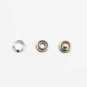 GENCASE 9mm Silver Metal Suspender Button Quick Fix No-Sewing Replacement Buttons for Customise