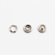 GENCASE 10pcs Silver 7mm Metal DIY Button No-Sew Replacement Buttons Quick Fix for DIY Crafts and Clothing Suspender Button