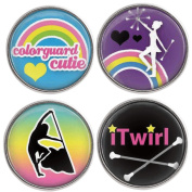 Lovmoment Buttons 20MM Snap Glass Colour Guard Interchangable Snaps Jewellery Set - Pack of 4