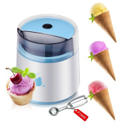LOHOME Ice Cream Maker Machine - Automatic Frozen Yoghurt and Sorbet Ice Cream Maker Machine Fruit Popsicles for Children with Free Ice Cream Scoop