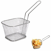 1Pcs Chips Mini Fry Baskets Stainless Steel Fryer Basket Strainer Serving Food Presentation Cooking Tool French Fries Basket